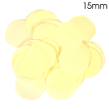 Ivory Tissue Paper Confetti | 15mm Round | 14g Bag